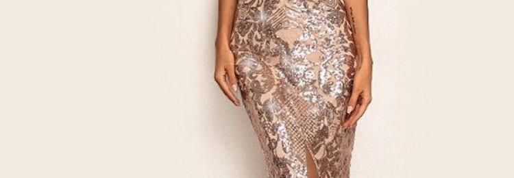 Вечернее нарядное длинное платье в пол с декольте