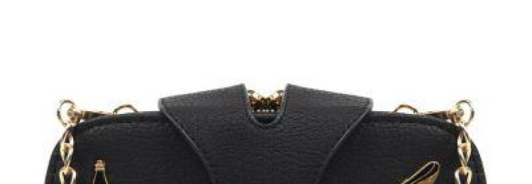 Модная сумка для девочки через плечо черная