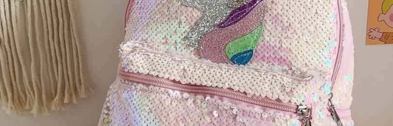 Рюкзак-единорог с блестками для девочки