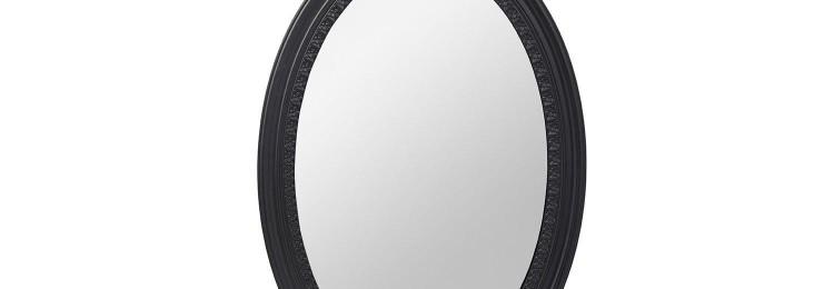 Зеркало овальное в черной раме 39х64 см