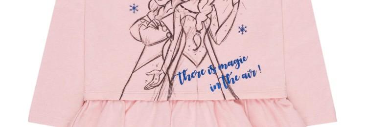 Платье для девочки Эльза Холодное Сердце в розовом цвете
