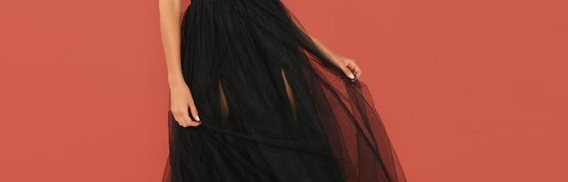Вечернее платье с юбкой из органзы