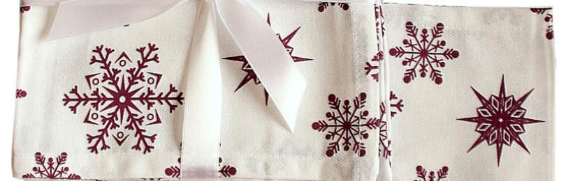 Салфетки со снежинками (6 шт)