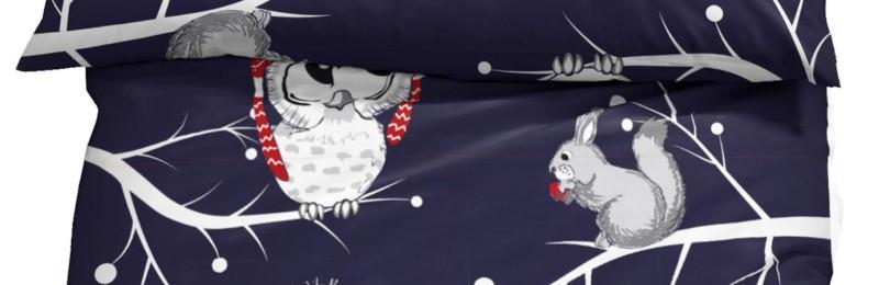 Постельное белье с новогодним рисунком «Совы»